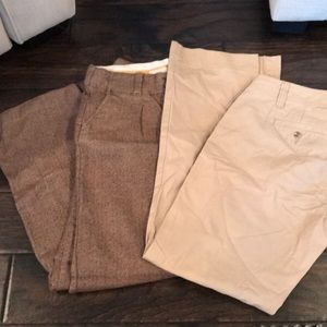 Two work pants. Gap and old navy.